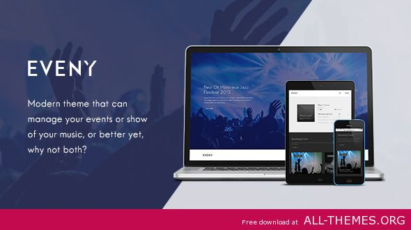 Eveny v1.4.1 - Events, Music & Gallery WordPress Theme