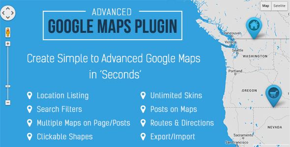 Advanced Google Maps Plugin for WordPress v3.4.1