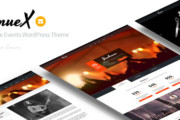 Venue X v1.4 - Simple Events WordPress Theme