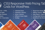 CSS3 Responsive Web Pricing Tables Grids For WordPress v10.6